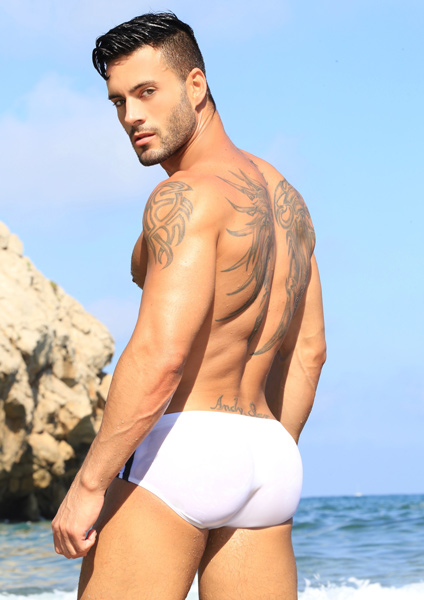 KB Swimwear White Andy Star
