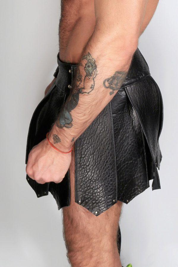 Kristen Bjorn Gay Leather Kilt