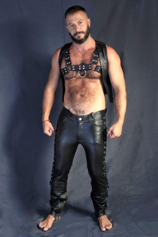 KB gay mens Leather Pants