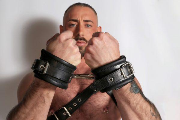 Kristen Bjorn Leather Handcuffs