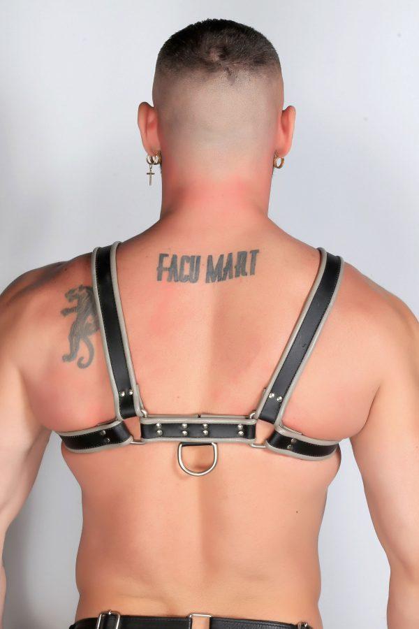 Kristen Bjorn Gray Leather Harness